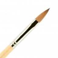 Кисть для ногтей акрил ВАЛЕРИ-Д из волоса колонка №7 лепесток: фото