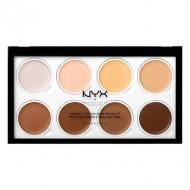 Палетка для скульптурирования лица NYX Professional Makeup Highlight & Contour Cream Pro Palette: фото