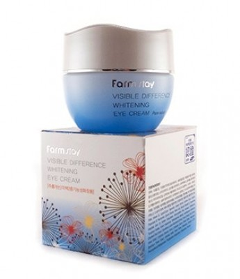 Крем осветляющий и увлажняющий для кожи вокруг глаз FARMSTAY Visible difference whitening eye cream 50 г: фото