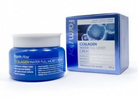 Крем увлажняющий с коллагеном FARMSTAY Collagen water full moist cream 100 мл: фото