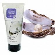 Пилинг-гель с экстрактом жемчуга THE FACE SHOP Smart Peeling White Jewel 150мл: фото