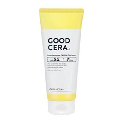 Крем для лица и тела универсальный Holika Holika Good Cera Super Ceramide Family Oil Cream интенсивно увлажняющий, 200мл: фото