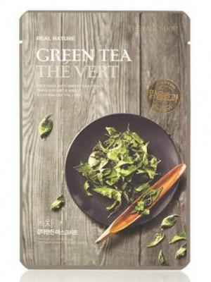 Маска с экстрактом зеленого чая THE FACE SHOP Real nature mask sheet tea tree 20г.: фото