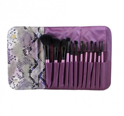 Набор кистей MORPHE SET 693 - 12 PIECE PURPLE SET W/ SNAKESKIN CASE: фото