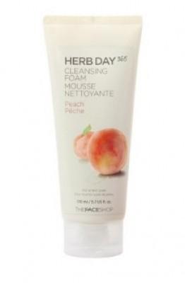 Пенка для умывания с персиком THE FACE SHOP Herb Day 365 Cleansing Foam Peach 170мл: фото