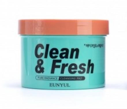 Очищающие диски для снятия макияжа EUNYUL Clean & fresh pure radiance cleansing pad 70 шт: фото
