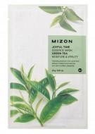 Тканевая маска с зеленым чаем MIZON Joyful time essence mask green tea 23г: фото