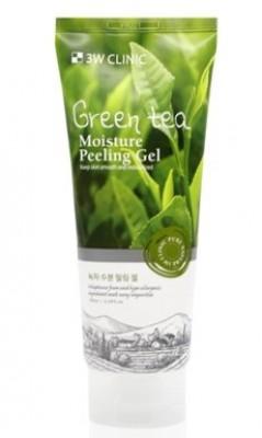 Пилинг-гель с зеленым чаем увлажняющий 3W CLINIC Green tea Moisture Peeling Gel 180мл: фото