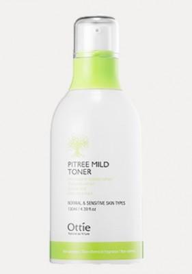 Тонер для чувствительной кожи с экстрактом пихты OTTIE Pitree Mild Toner 130мл: фото