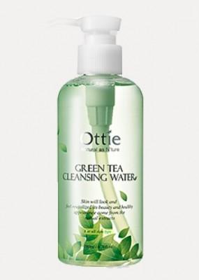 Очищающая вода с зеленым чаем для снятия макияжа OTTIE Green Tea Cleansing Water 200мл: фото