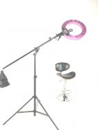Кольцевая лампа Stellar LED Diva Ring light + Boom Stand Silver: фото