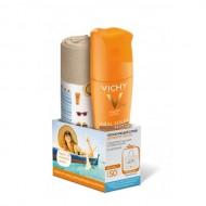 Увлажняющий спрей активатор для тела SPF50 VICHY Ideal Soleil 200мл+ Пляжная сумка в подарок: фото