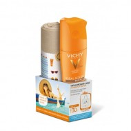 Увлажняющий спрей активатор для тела SPF30 VICHY Ideal Soleil 200мл+ Пляжная сумка в подарок: фото