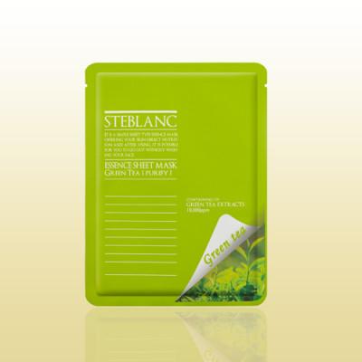 Маска очищающая с зеленым чаем STEBLANC Essence sheet mask-green tea: фото