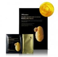 Альгинатная маска с экстрактом золота и шелкопряда JMSolution Golden Cocoon Home Esthetic Modeling Mask 500г+5г: фото