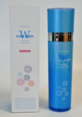 Тонер для лица осветляющий ENOUGH W Collagen Whitening Toner 130мл: фото