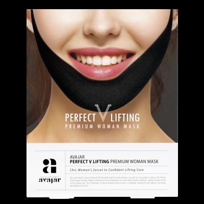 Маска женская лифтинговая черная AVAJAR perfect V lifting premium woman black mask 1 шт: фото