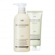 (1+1) Шампунь Triplex3 Natural Shampoo + Маска Tea Tree Scalp Clinic Hair Pack (530ml+200g): фото