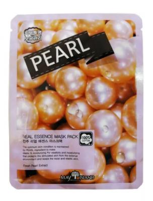 Маска тканевая с жемчугом May Island Real Essence Pearl Mask Pack 25мл: фото