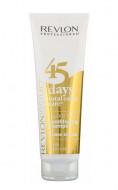 Шампунь-кондиционер для Золотистых Блондинок Revlon Professional Revlonissimo 45 Days Shampoo GOLDEN BLONDES 275мл: фото
