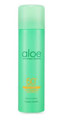 Солнцезащитный спрей с охлаждающим эффектом Holika Holika Aloe Soothing Essence Face&Body Ice Cooling Sun Spray SPF 50+ PA ++++ 100 мл: фото