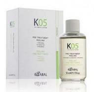 Капли для предварительного нанесения Лосьон для глубокого очищения кожи головы Kaaral К05 Pre Treatment Peeling 50 мл: фото