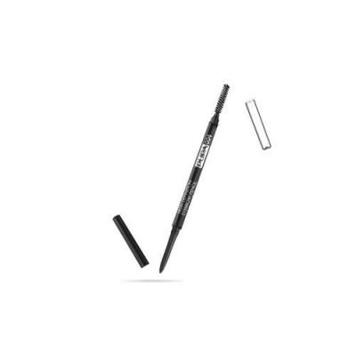 Карандаш для бровей PUPA HIGH DEFINITION EYEBROW PENCIL тон 004 Экстра-темный: фото