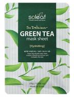 Маска тканевая освежающая с зеленым чаем Soleaf So Delicious Green Tea Mask Sheet 25 мл: фото