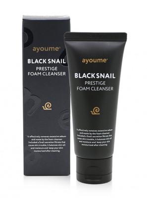 Пенка для умывания AYOUME BLACK SNAIL PRESTIGE FOAM CLEANSER 60мл: фото